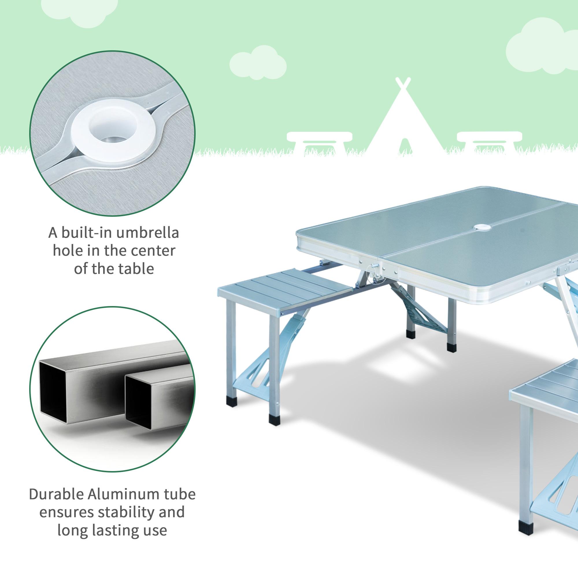 thumbnail 42 - Portable Folding Camping Picnic Table Party Outdoor Garden Chair Stools Set