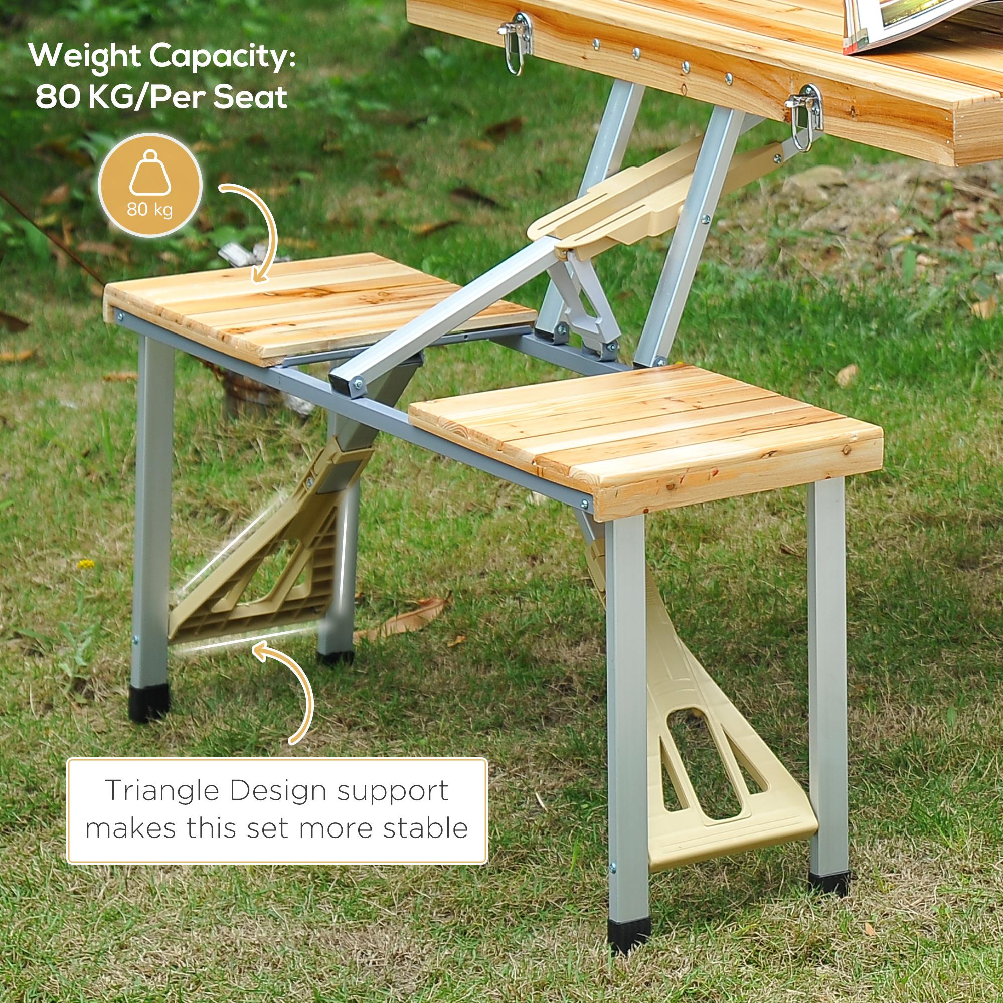 thumbnail 55 - Portable Folding Camping Picnic Table Party Outdoor Garden Chair Stools Set
