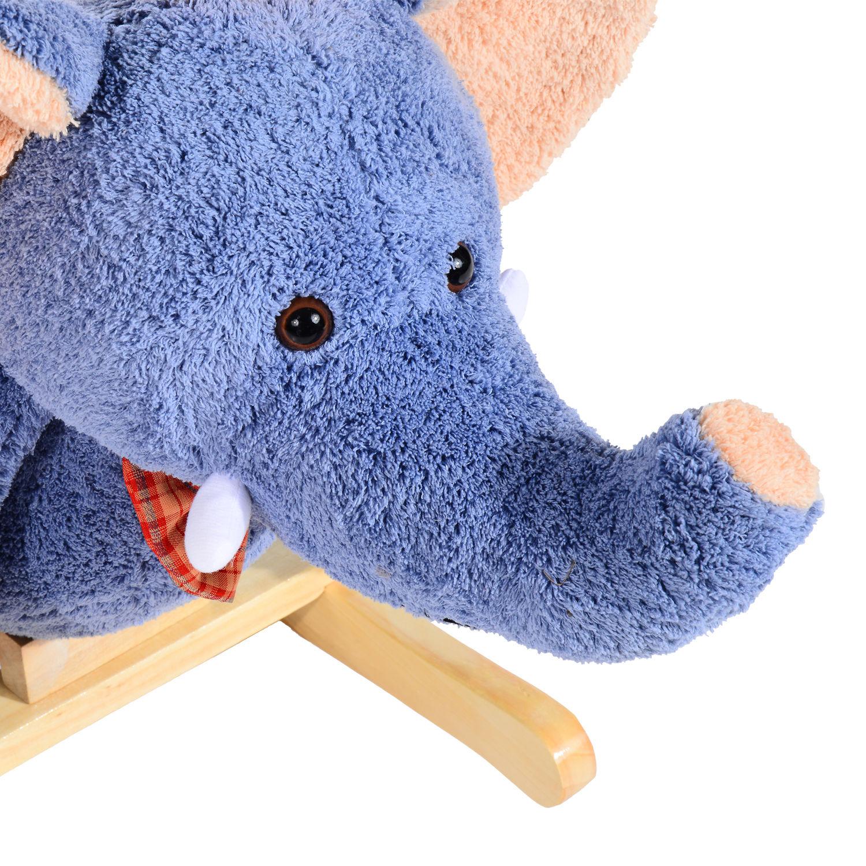 miniature 7 - Enfants en Bois Cheval à Bascule Rocker éléphant Ride Sur Jouet Cadeau Siège chansons