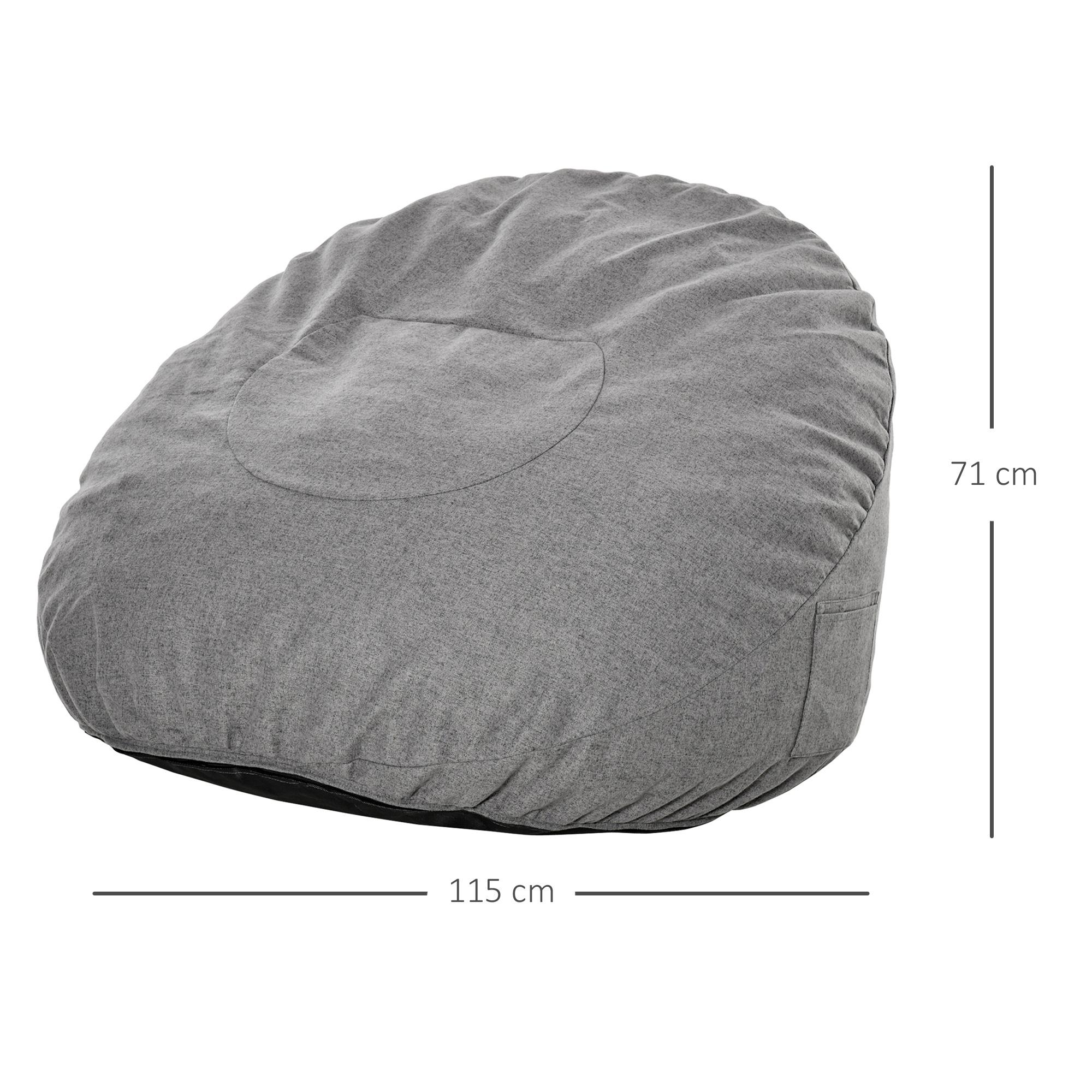 Indexbild 10 - Sitzsack Sitzkissen gepolstert Polyester Schaumstoff 3 Farben