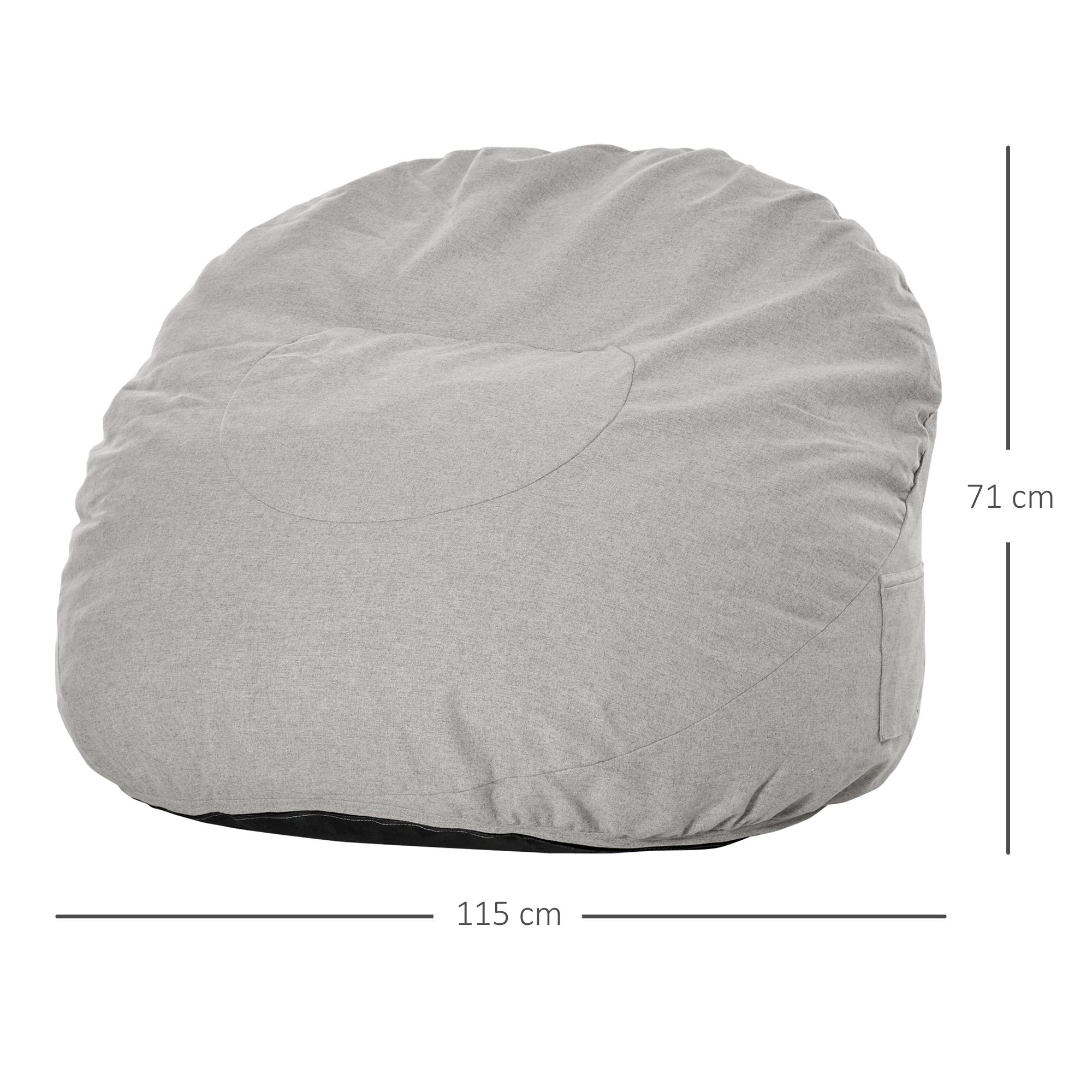 Indexbild 15 - Sitzsack Sitzkissen gepolstert Polyester Schaumstoff 3 Farben