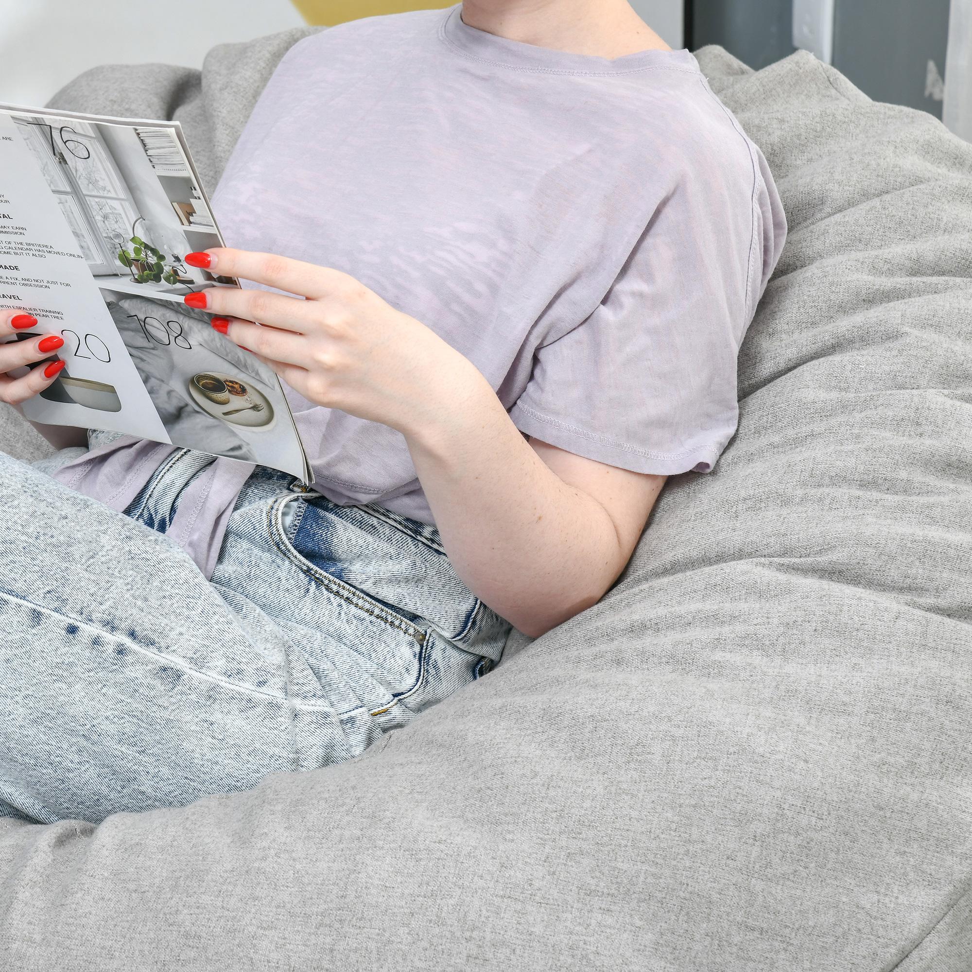 Indexbild 16 - Sitzsack Sitzkissen gepolstert Polyester Schaumstoff 3 Farben