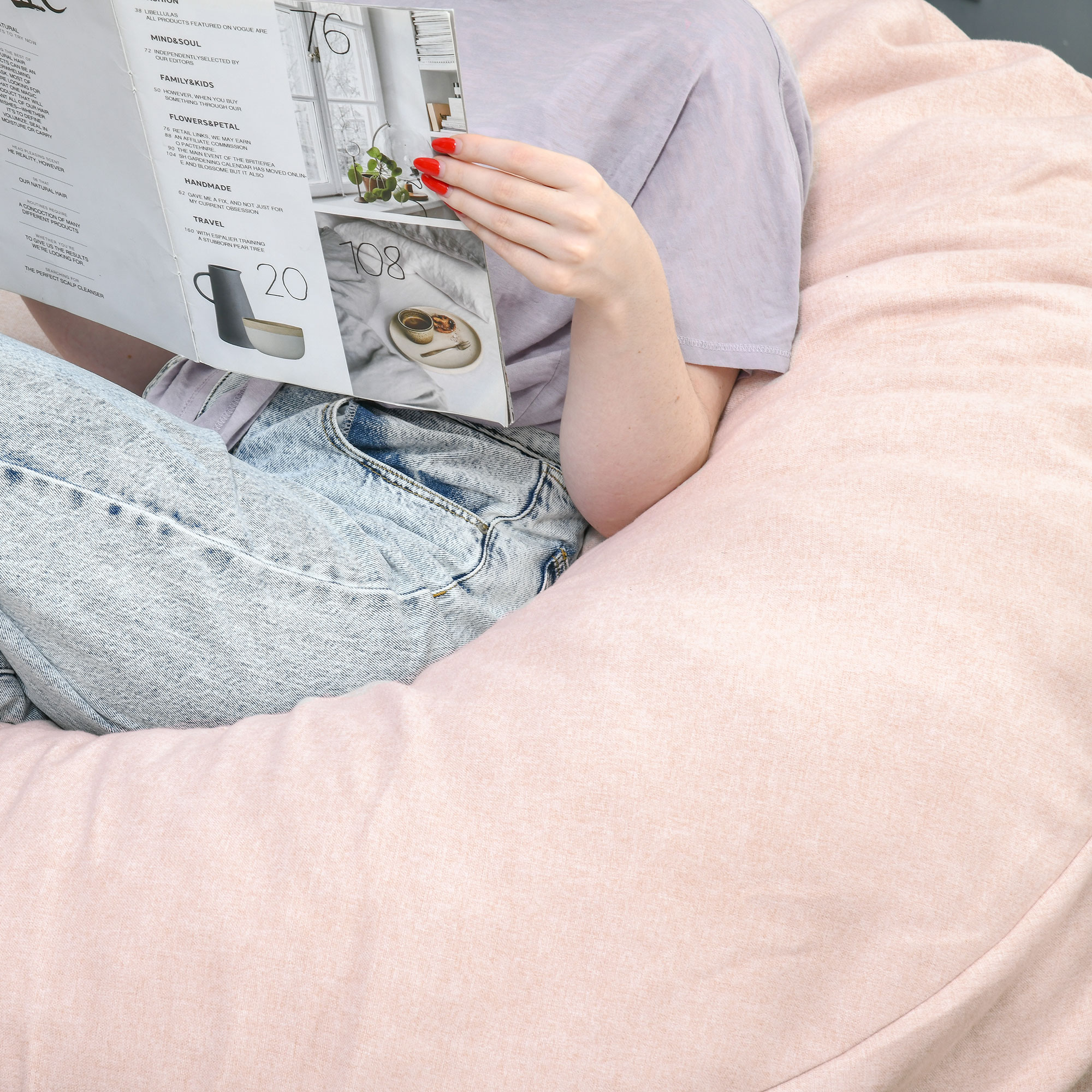 Indexbild 23 - Sitzsack Sitzkissen gepolstert Polyester Schaumstoff 3 Farben